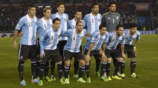 teamfoto voor Argentinië