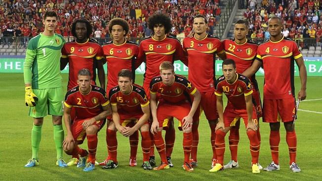 teamfoto voor België