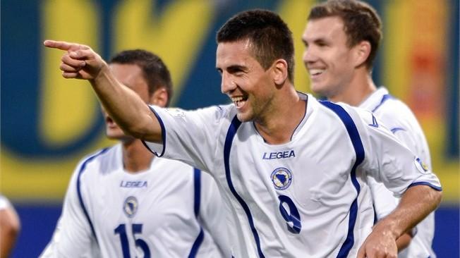 teamfoto voor Bosnië en Herzegovina