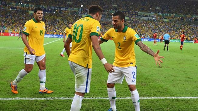teamfoto voor Brazilië