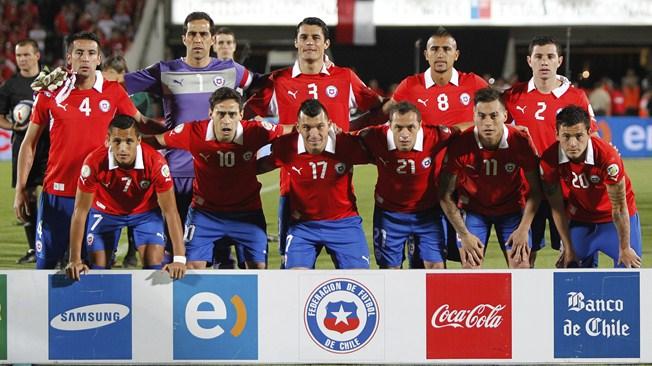 teamfoto voor Chili