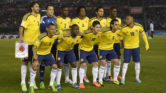 teamfoto voor Colombia