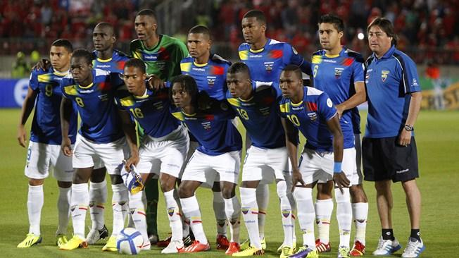 teamfoto voor Ecuador