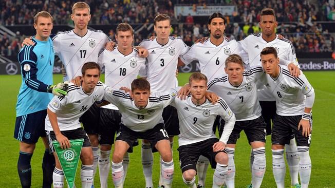 teamfoto voor Duitsland