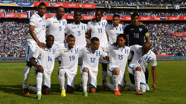 teamfoto voor Honduras