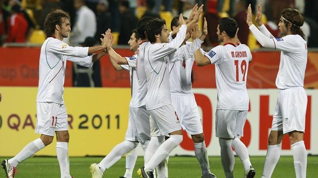 teamfoto voor Iran