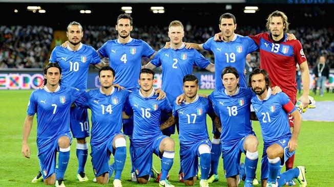 teamfoto voor Italië