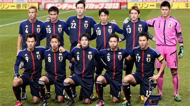 teamfoto voor Japan