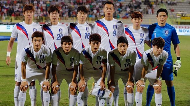teamfoto voor Zuid-Korea