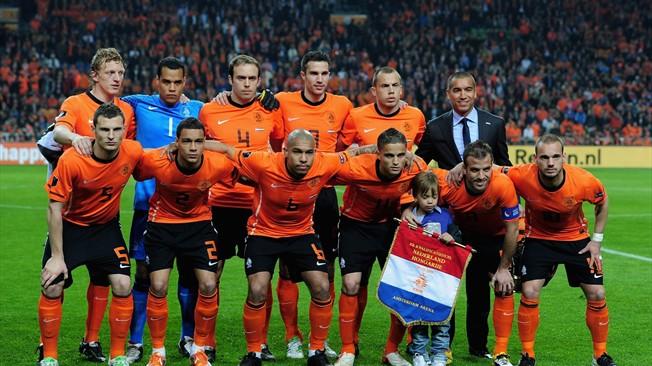 teamfoto voor Nederland