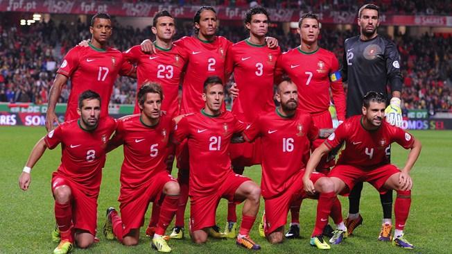 teamfoto voor Portugal