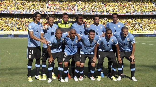 teamfoto voor Uruguay